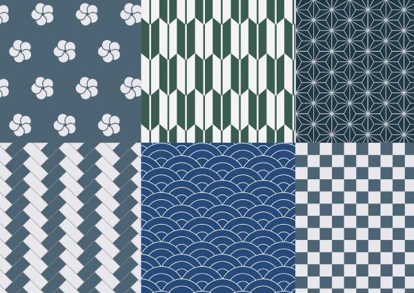 日本の伝統色や柄、自然素材を、上品に取り入れます。